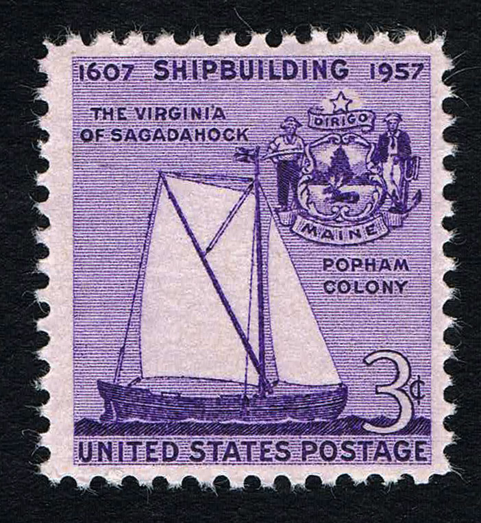 Scott 1095 - 3$ 350th Anniversary of Shipbuilding in America.